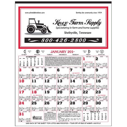 "Picture of 12-Sheet Almanac Calendar -10\"" x 13-1/2\"""