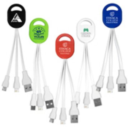 Picture of 2-in-1 Charging Cable For Cell Phones and Tablets