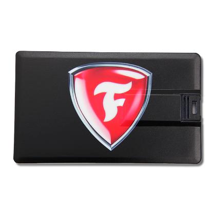 Picture of Broadview Credit Card USB Flash Drive- 8 GB - Black