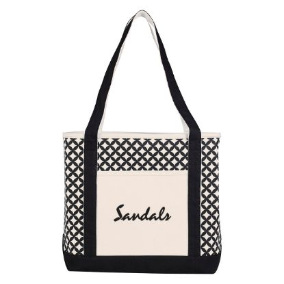 Picture of Curved Diamond Canvas Tote Bag