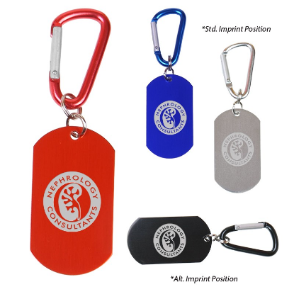 Picture of Dog Tag Carabiner Key Chain
