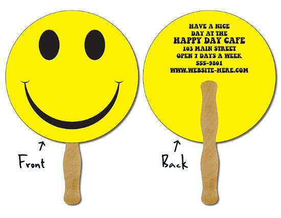 Picture of Hand Fan - 8.5 Inch Diameter Circle Laminated - 14 pt.