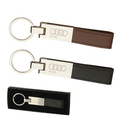 Picture of Leather & Silver Keyring / Key Chain