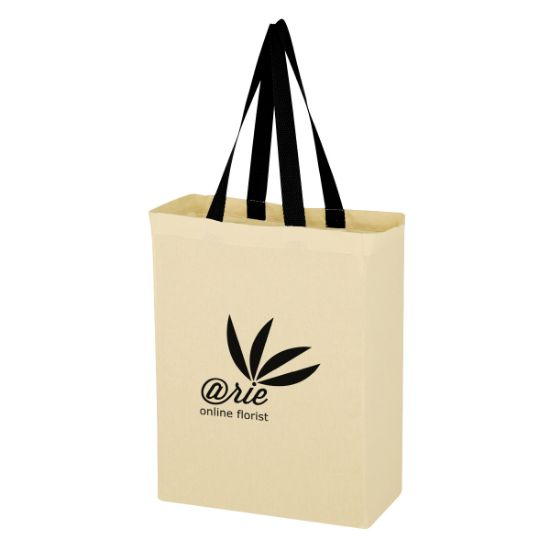 Picture of Natural Cotton Canvas Grocery Tote Bag