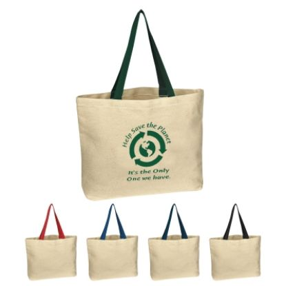 Picture of Natural Cotton Canvas Tote Bag
