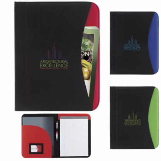 """Picture of Non-Woven Curve Padfolio Journal - 10\""""w x 12-3/4\""""h x 3/8\""""d"""