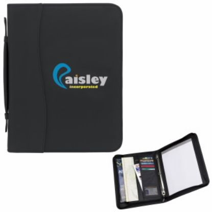 """Picture of SIgN wave® Zip Ringbinder Padfolio Journal - 10-1/2\""""w x 13-1/2\""""h x 2-1/4""""d"""