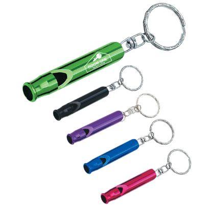 Aluminum Whistle key Ring